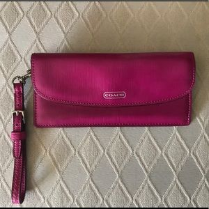 Coach Darcy Saffiano patent leather wallet